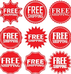 Free shipping signs set free shipping sticker set vector image