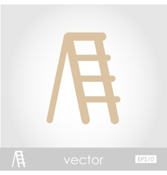 Ladder stepladder stair icon vector