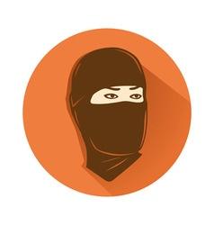 ninja head symbol vector image
