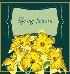 Narcissus flower card element vector