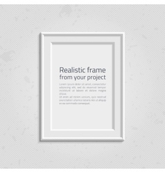 Realistic picture frame with text vector