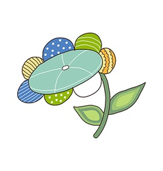 A flower is placed vector image vector image