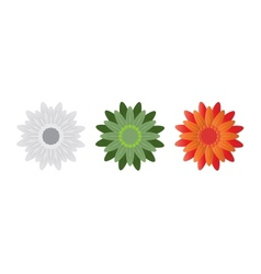Abstract Flowers on White Background vector image