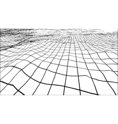 Abstract polygonal wave wireframe background vector image vector image