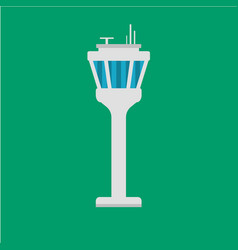 Airport traffic control tower vector