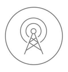 Antenna line icon vector image vector image