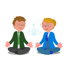 business people in meditation pose vector image