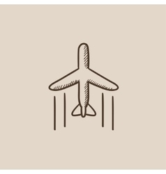 Cargo plane sketch icon vector