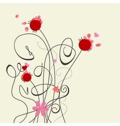 cute graceful flowers vector image vector image