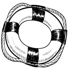 Doodle lifesaver vector