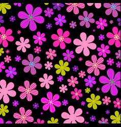 Flower fields vector