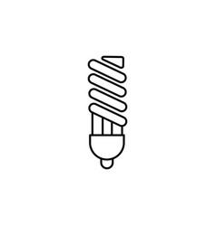 fluorescent light bulb icon vector image