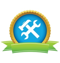 Gold repair logo vector