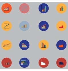 Graphs pie charts Items for business statistics vector image