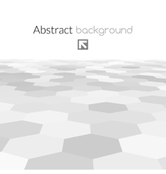 Gray hex grid background texture vector