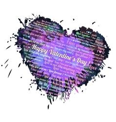 Heart blots ink vector image vector image