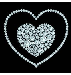 Heart diamond composition vector