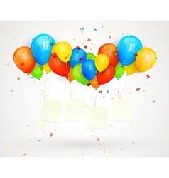 holiday billboard balloons vector image vector image