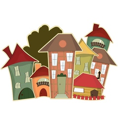 houses vector image