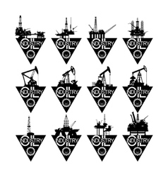 Icons oil industry-2 vector image vector image