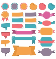 Labels Ribbons Banners vector image vector image