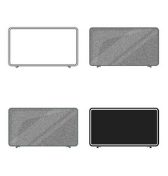 Lcd television icon in cartoon style isolated on vector