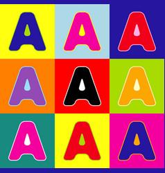 letter a sign design template element pop vector image