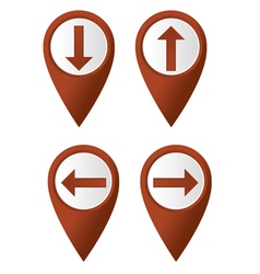 map pointer arrow vector image