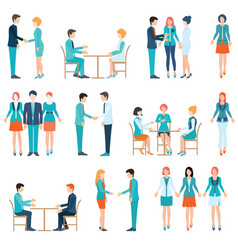 Partnership business people vector