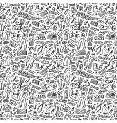 Raphip hop graffiti - seamless background vector