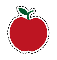 red whole apple icon image vector image vector image