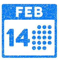 Romantic valentine day grunge icon vector