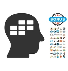 Schedule thinking icon with 2017 year bonus vector