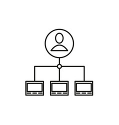 server admin icon vector image