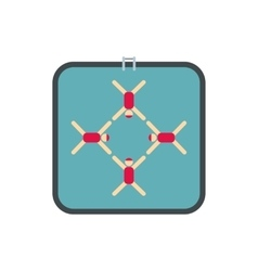 Synchronized swimmers icon vector