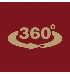 The angle 360 degrees icon rotation symbol flat vector