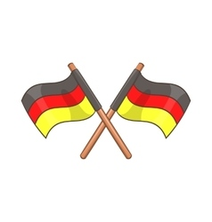 Two crossed flags of germany icon cartoon style vector