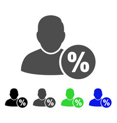User tax percent flat icon vector