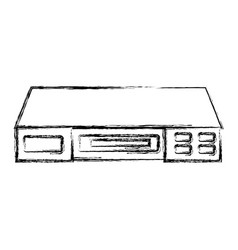 Vhs player isolated vector