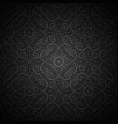 vintage black pattern vector image