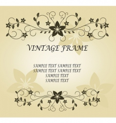 vintage frame for design vector image vector image