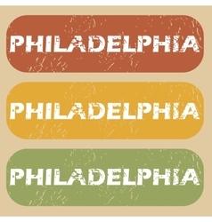 Vintage Philadelphia stamp set vector image