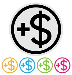 make money icon vector image