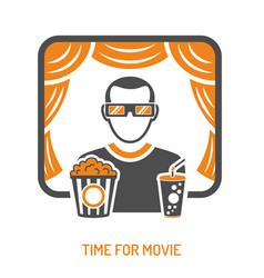 Cinema and movie concept vector