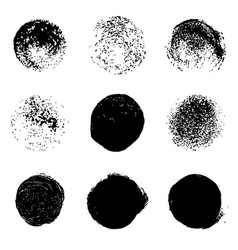 Grunge stains set on white background vector