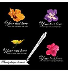 Set of symbols for logo designing vector