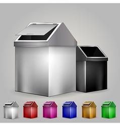 dustbins vector image