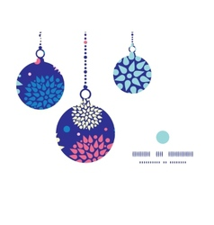 Colorful bursts christmas ornaments silhouettes vector