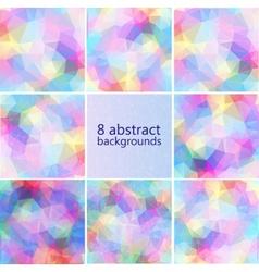 geometric hipster retro background set vector image