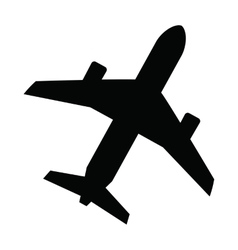 Black airplane vector